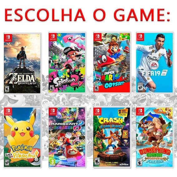 Jogo Nintendo Switch Mídia Física Mario Zelda E Mais