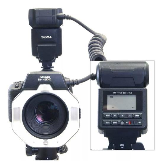Flash Circular Sigma Em-140 Dg Para Nikon E Canon Frete Grat