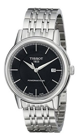 Relógio Tissot Powermatic 80 Prata/preto Automático Clássico