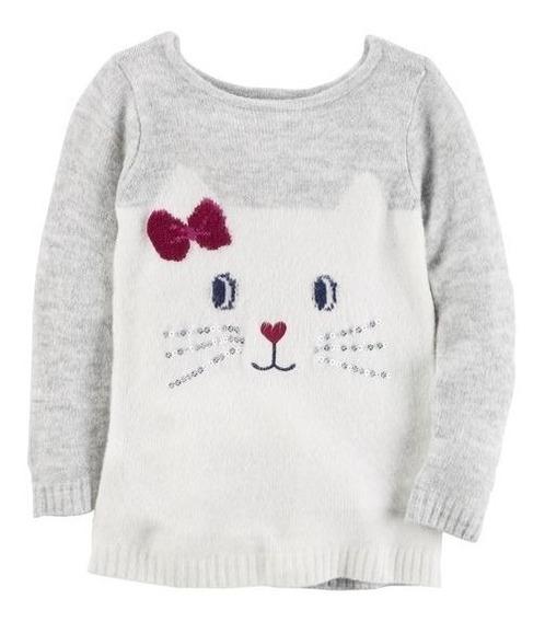 Sweaters Carters Nena Gatito Nueva Temporada. Talle 2