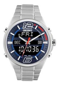 Relógio Orient Masculino Ref: Mbssa047 Dvsx Anadigi Gmt