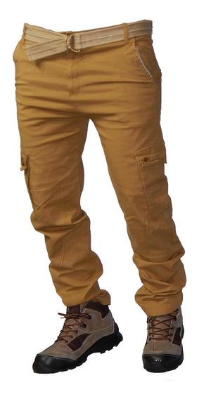 Pantalones Cargo Recto Elastizado - Jeans710