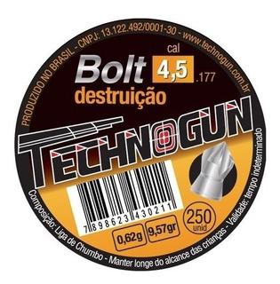 Chumbinho Technogun Bolt Destruição 4.5 M 250 Uni Carabina