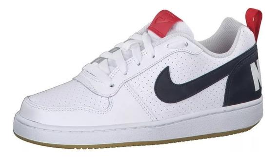 Tenis Deportivo Casual Nike Court Borough Low (gs)839985 105