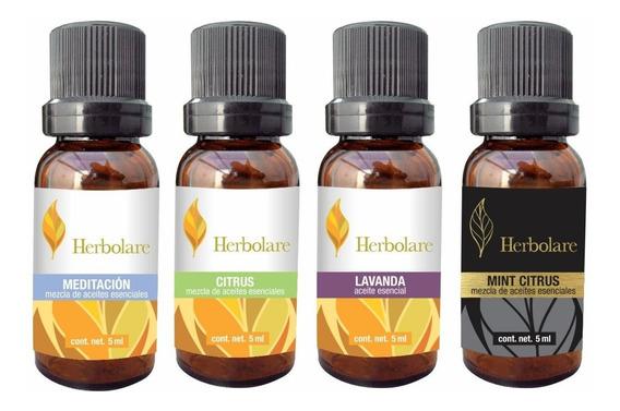 4 Aceites Esencia Relajante Para Aroma-terapia Envío Gratis