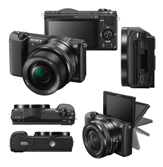 33.900- Sony Ilce Alpha A5100 E Aps-c 24,3 Mp + Selp16-50
