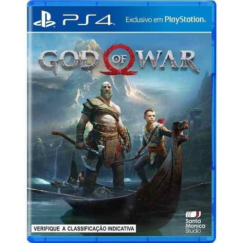 Jogo Mídia Física Lançamento God Of War 4 Playstation Ps4