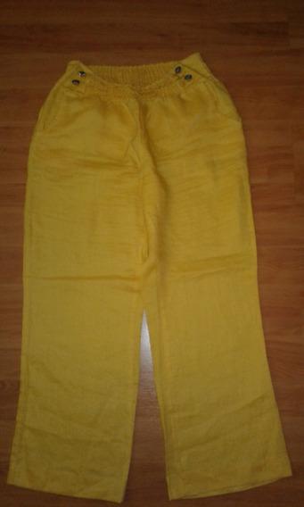 Pantalon De Lino Importado. Dama , Talla 32
