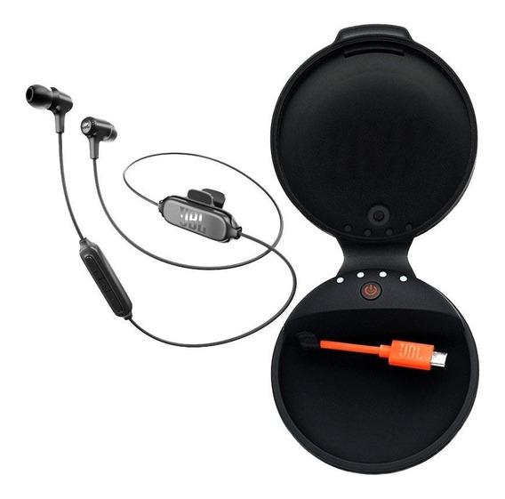 Fone Ouvido Jbl E25 E25bt Bluetooth Preto + Case Carregador