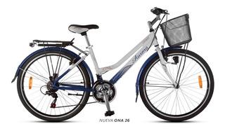 Bicicleta Paseo 18 V Aurora Ona 26 De Aluminio Oferta!! Env
