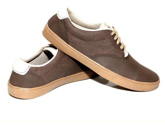 Sapatenis Azul Masculino Sapato Casual - Tamanho Especial