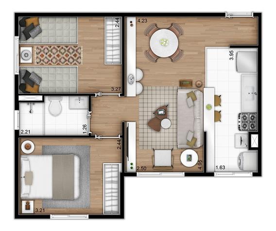 Lançamento Cambuci - 2 Dormitórios -217 Mil