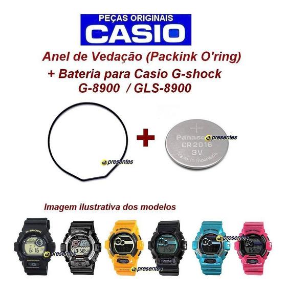 Anel De Vedação + Bateria Casio Gshock G-8900 Gls-8900