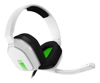 Fone de ouvido gamer Astro A10 white e green