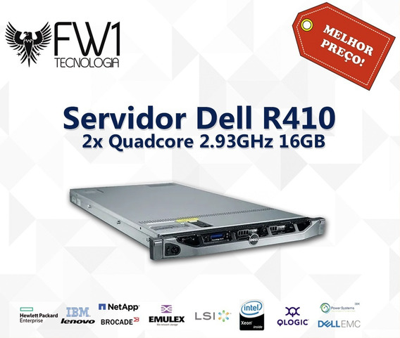 Servidor Dell R410 Quadcore 2.93ghz / 16gb / 2x 250gb Gb