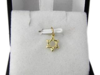 Dije Cruz Estrella De David Oro Amarillo 18k 0,4 Gramos