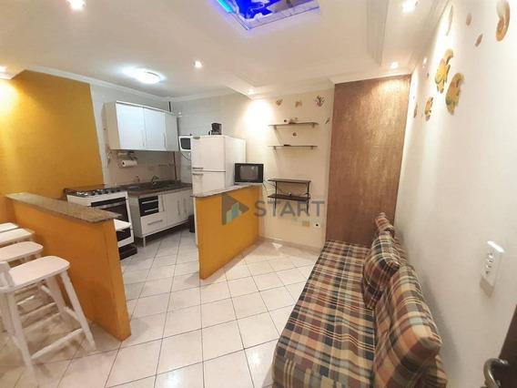 Kitnet Com 1 Dormitório À Venda, 30 M² Por R$ 115.000 - Ocian - Praia Grande/sp - Kn0333