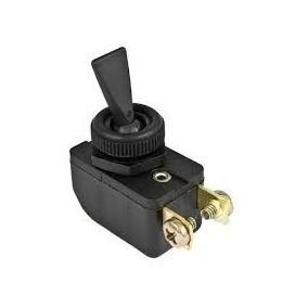 Interruptor De Alavanca Plástica Preta; Unipolar Atuadores: