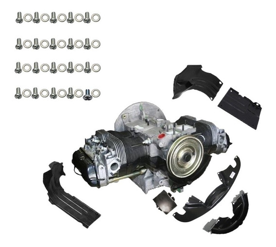 Kit Chapa Do Motor Fusca/kombi 6 Peç. + 20 Paraf.+ 20 Ruelas