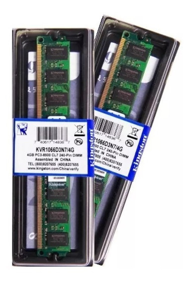 Memória Kingston Ddr3 4gb 1066 Mhz Desktop 16 Chips 1.5v