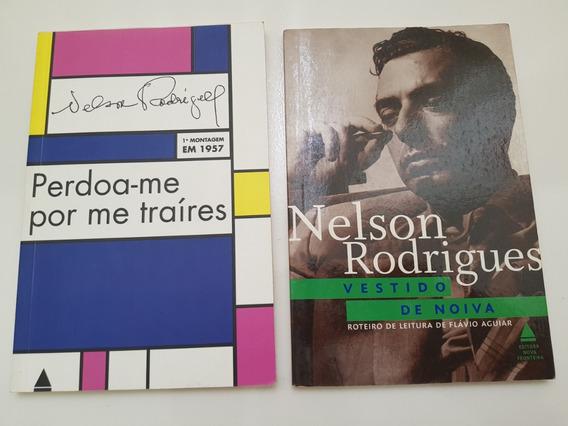 Lote Livros Nelson Rodrigues Vestido De Noiva E Perdoa-me