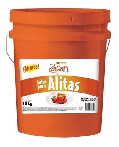 Cubeta Salsa Alitas Original Zafran 18 Kilos Base Madre.