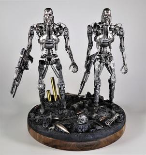 Terminator Neca - Doble - Con Base Diorama