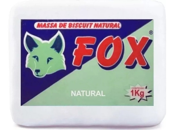 Kit 5 Massa Biscuit Fox Natural 1kg Artesanato Porcelana