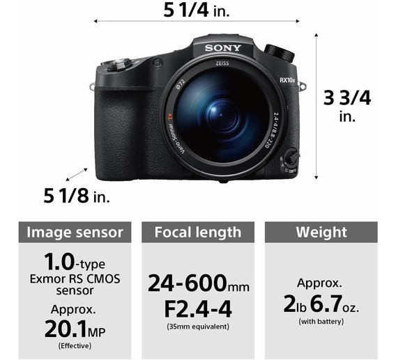 Sony Cyber-shot Rx10 Iv With 0.03 Second Auto-focus & 25x Op