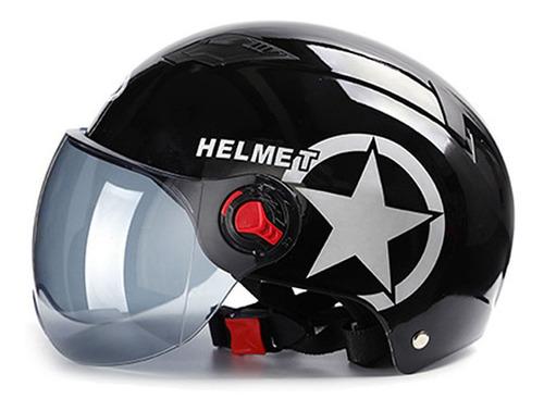 dise/ño de Gorra de b/éisbol para Bicicleta Suministros de protecci/ón para Ciclismo Deportivo Casco Medio Abierto para Motocicleta Azul Casco de Seguridad de Carcasa Dura