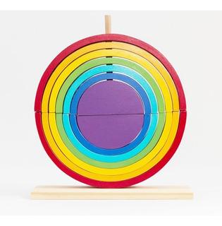 Arco Iris Doble Encastre Waldorf Montessori 14 Piezas Mk