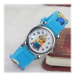 Relógio Infantil Minions 3 D ( Meu Malvado Favorito)