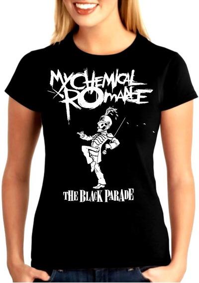 Camiseta Baby Look Feminina Bandas Rock My Chemical Romance