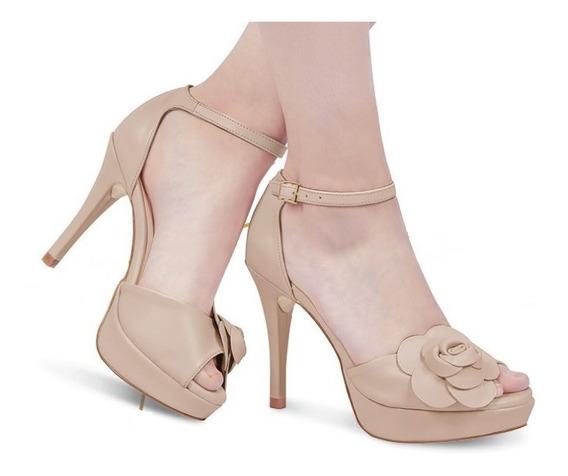 Zapatilla Dama Mujer Color Maquillaje Tipo Piel Tacon 7cm