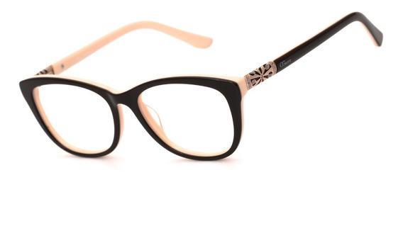 Armação Oculos Ogrife Og 1035-c Feminino Com Lente Sem Grau