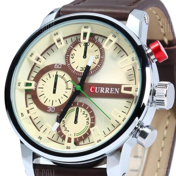 Curren 8170 Relógio Quartz Masculino Com Pulseira De Couro