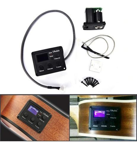 Ecualizador Micrófono Ukulele Con Digital 3 Bandas
