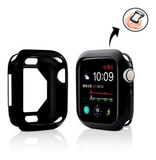 Case Silicone Capa Tpu P/ Apple Watch 44mm - Branco / Preto
