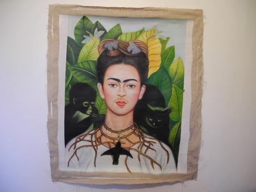 Pintura Moderna Al Estilo De Frida Kahlo !!! 50 X 62 Cm