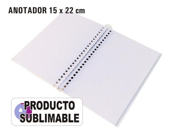 5 Cuadernos Anotadores Sublimables 15x22 Cm Hojas Lisas