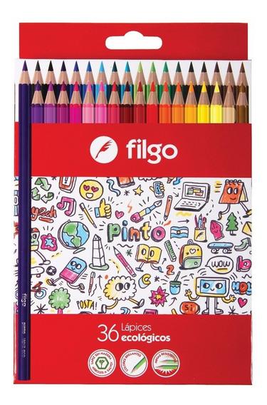 Lapiz Lapices Filgo Pinto Caja X 36 Colores Largos
