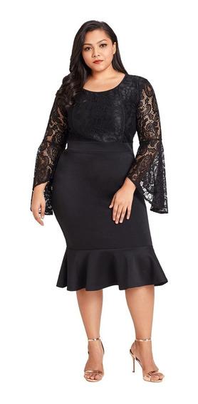 Vestido Negro Talla Extra