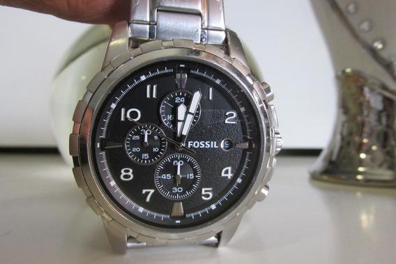 Relógio Cronógrafo Fossil Fs4542 Estado De Novo E Lindo !!!