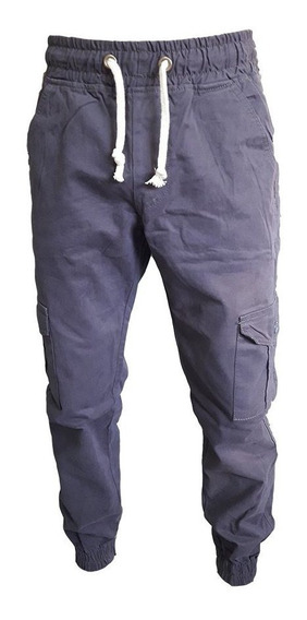 Pantalón Jogger Gabardina Cargo Hombre