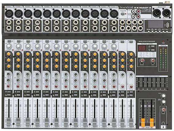 Mesa De Som Analógica Soundcraft Sx1602fx Usb Original