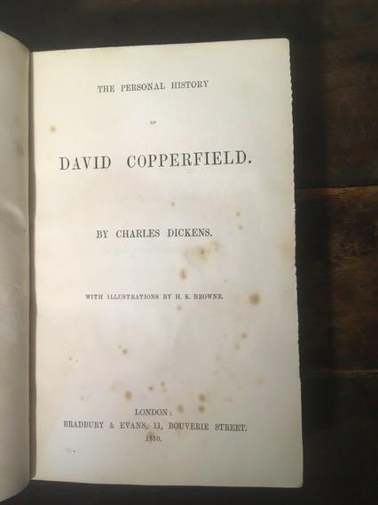 David Copperfield - Charles Dickens. Primeira Edição 1850.