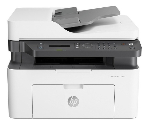 Impresora Hp M137fnw Multifuncion Laser 4zb84a Monocromática