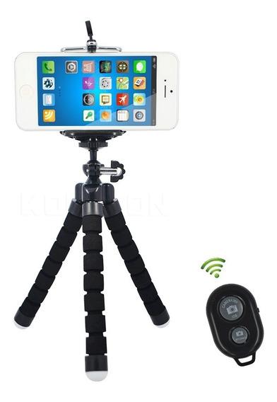 Suporte Mini Tripé Octopus Flexível Para Celular E Câmera