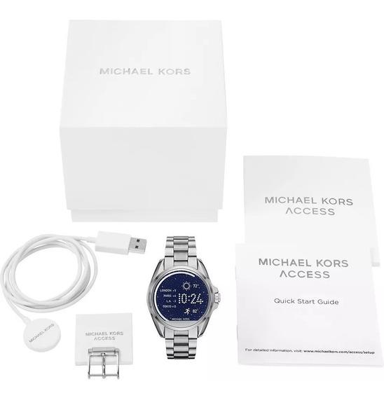 Relogio Michael Kors Mkt5012 Access Touch Digital Prata New