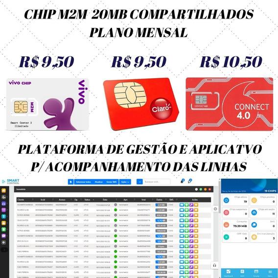 Chip M2m Vivo C/ Acompanhamento Via Web E App No Celular